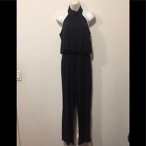 Black Jumpsuit with Sparkles-Size 10
